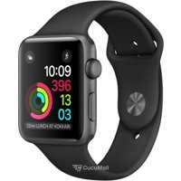 Smart watches,sports bracelets Apple Watch Series 2 42mm Space Gray Aluminum Case with Black Sport Band (MP062)