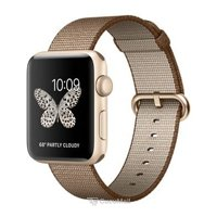 Smart watches,sports bracelets Apple Watch Series 2 42mm Gold Aluminum Case with Toasted Coffee/Caramel Woven Nylon Band (MNPP2)