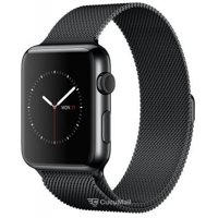 Smart watches,sports bracelets Apple Watch Series 2 42mm Space Black Stainless Steel Case with Space Black Milanese Loop (MNQ12)